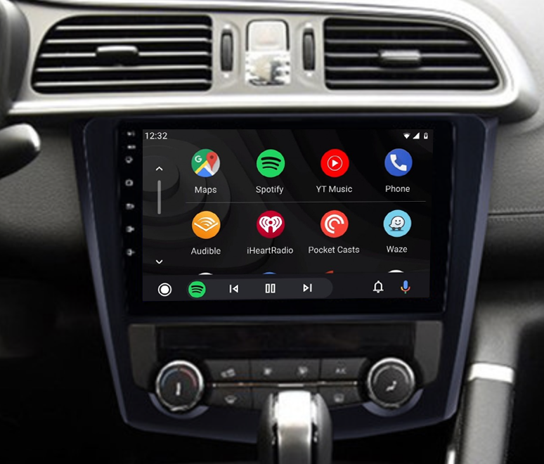 Ecran tactile QLED Android 11.0 + Apple Carplay sans fil Renault Kadjar de 2013 à 2018