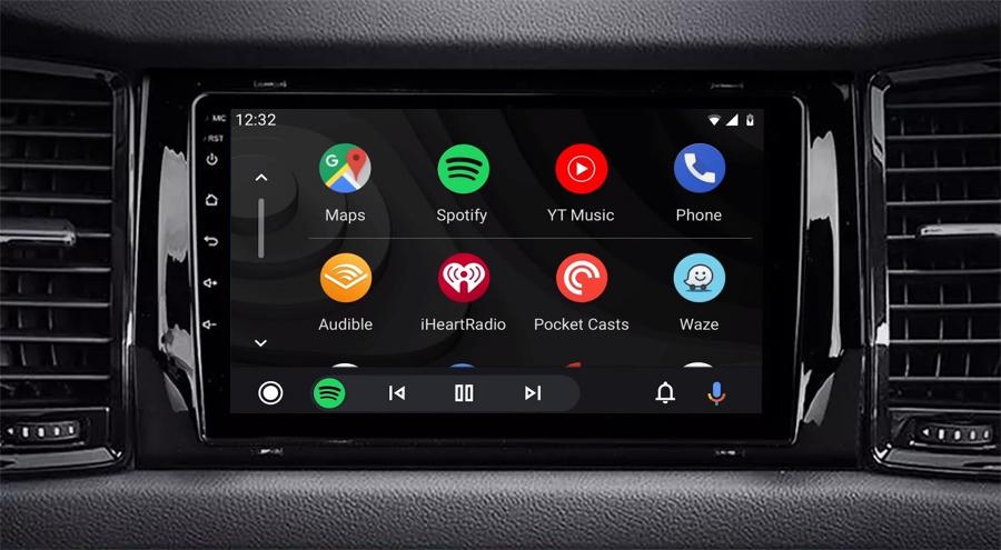 Ecran tactile QLED Android 11.0 + Apple Carplay sans fil Skoda Kodiaq depuis 2017