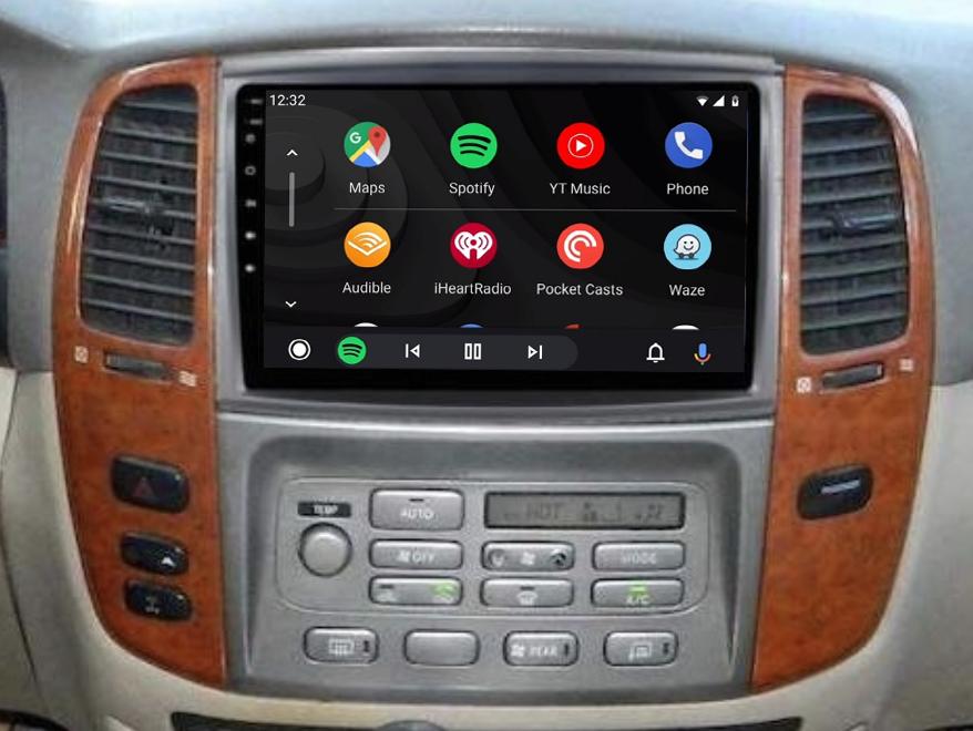 Ecran tactile QLED Android 11.0 + Apple Carplay sans fil Toyota Land Cruiser 100 de 2003 à 2007