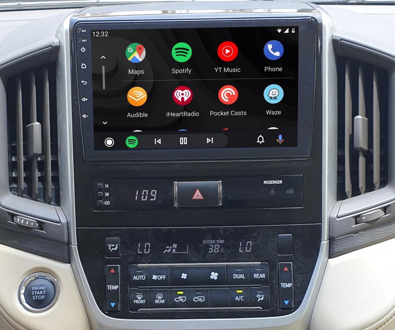 Ecran tactile QLED Android 11.0 + Apple Carplay sans fil Toyota Land Cruiser depuis 2016