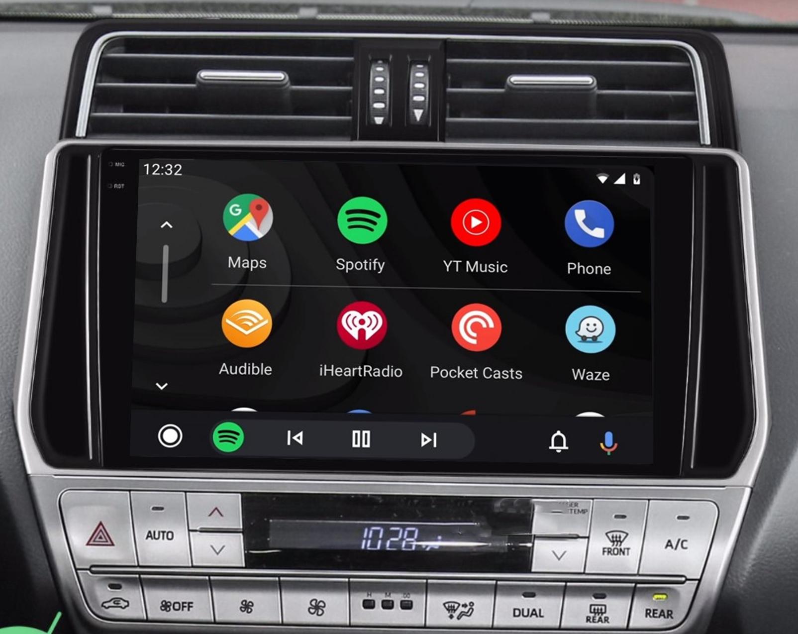 Ecran tactile QLED Android 11.0 + Apple Carplay sans fil Toyota Land Cruiser depuis 2018