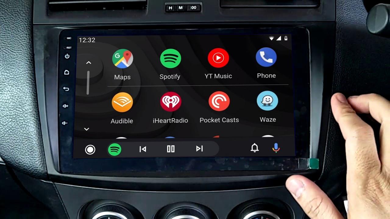 Ecran tactile QLED Android 11.0 + Apple Carplay sans fil Mazda 3 de 2009 à 10/2013
