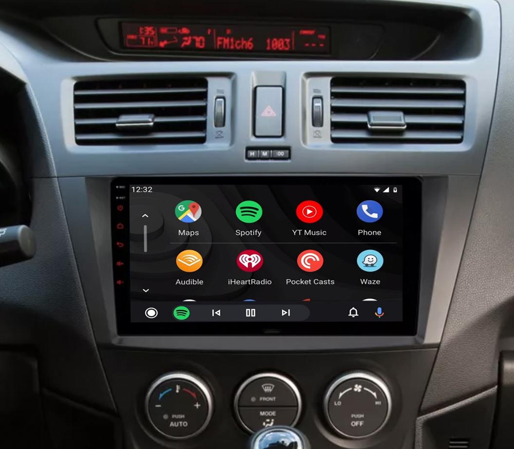 Ecran tactile QLED Android 11.0 + Apple Carplay sans fil Mazda 5 de 2009 à 2012