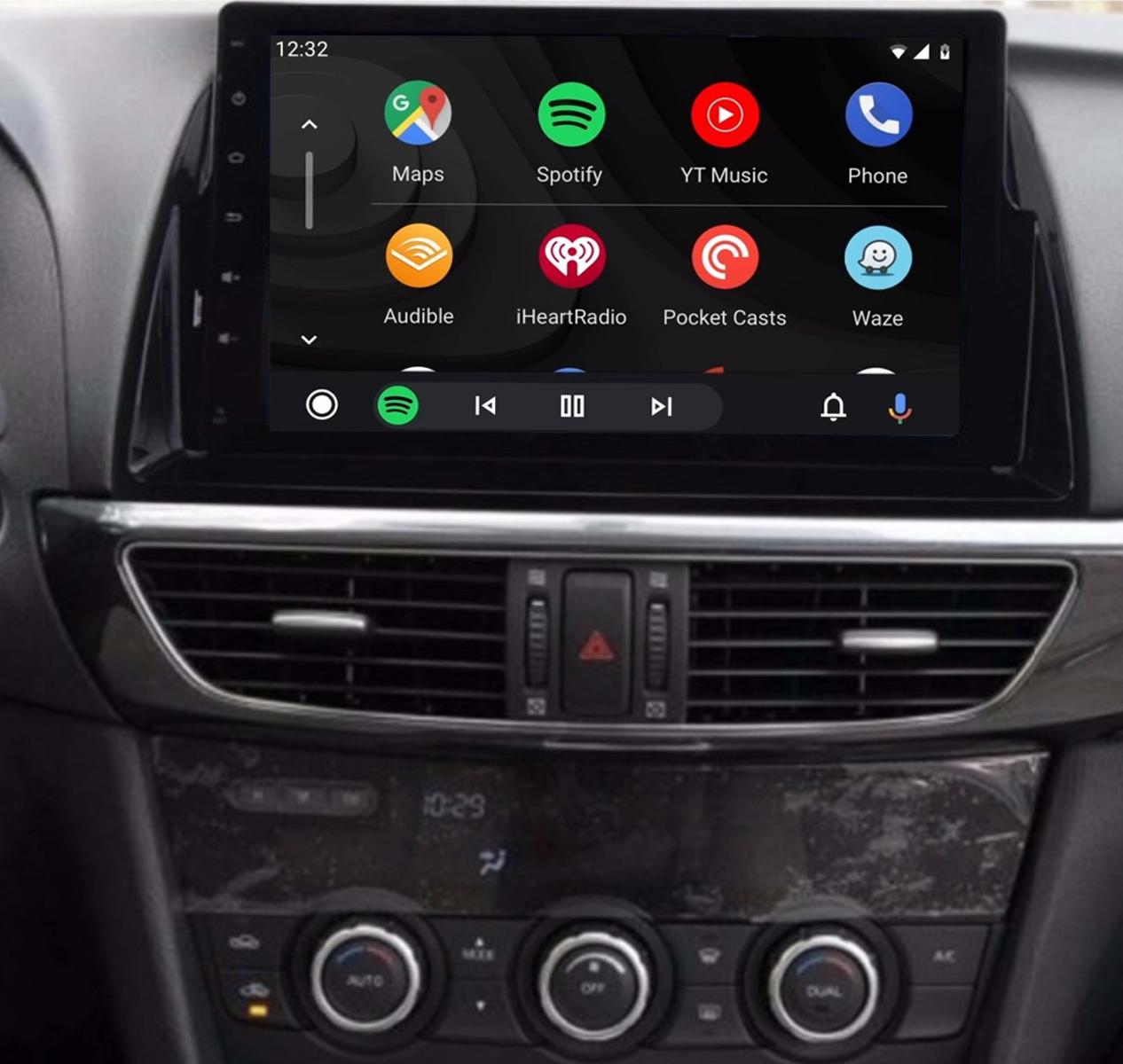 Ecran tactile QLED Android 11.0 + Apple Carplay sans fil Mazda CX-5 et Mazda 6