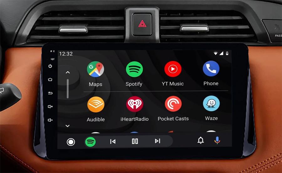Ecran tactile QLED Android 11.0 + Apple Carplay sans fil Nissan Micra depuis 2017