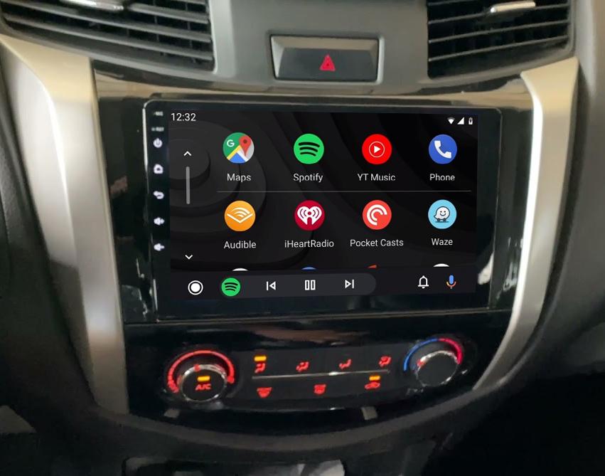 Ecran tactile QLED Android 11.0 + Apple Carplay sans fil Nissan Navara NP300 depuis 2015