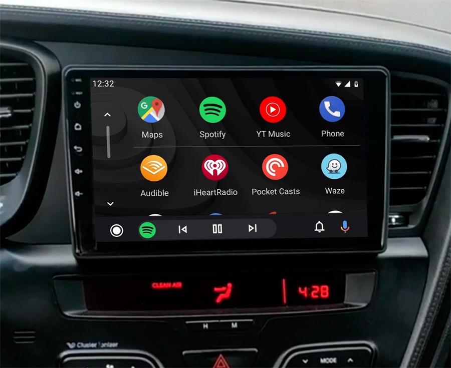 Ecran tactile QLED Android 11.0 et Apple Carplay sans fil Kia Optima de 2011 à 2015