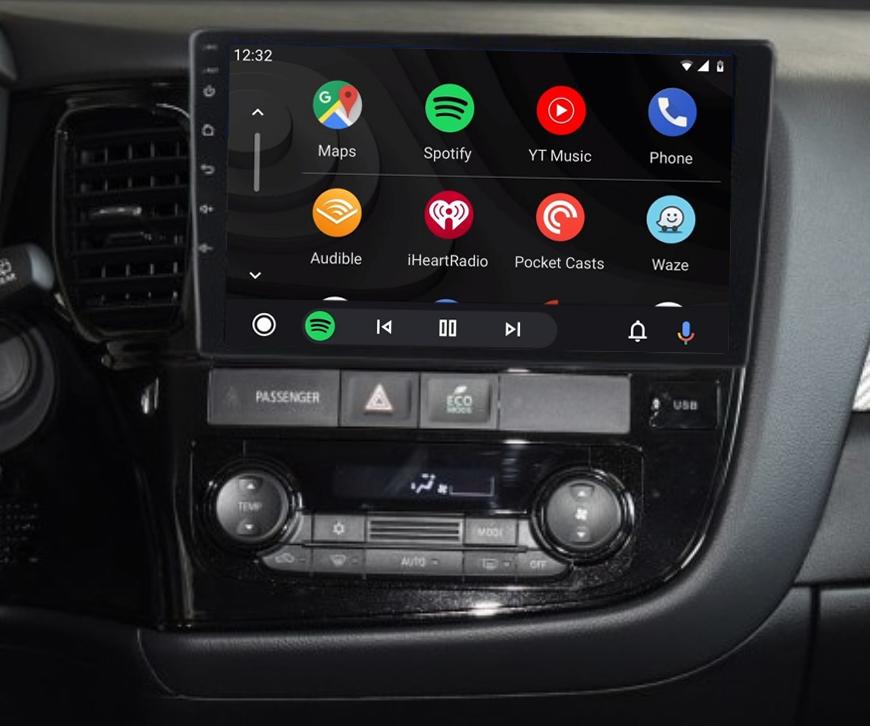 Ecran tactile QLED Android 11.0 + Apple Carplay sans fil Mitsubishi Outlander de 2013 à 2020