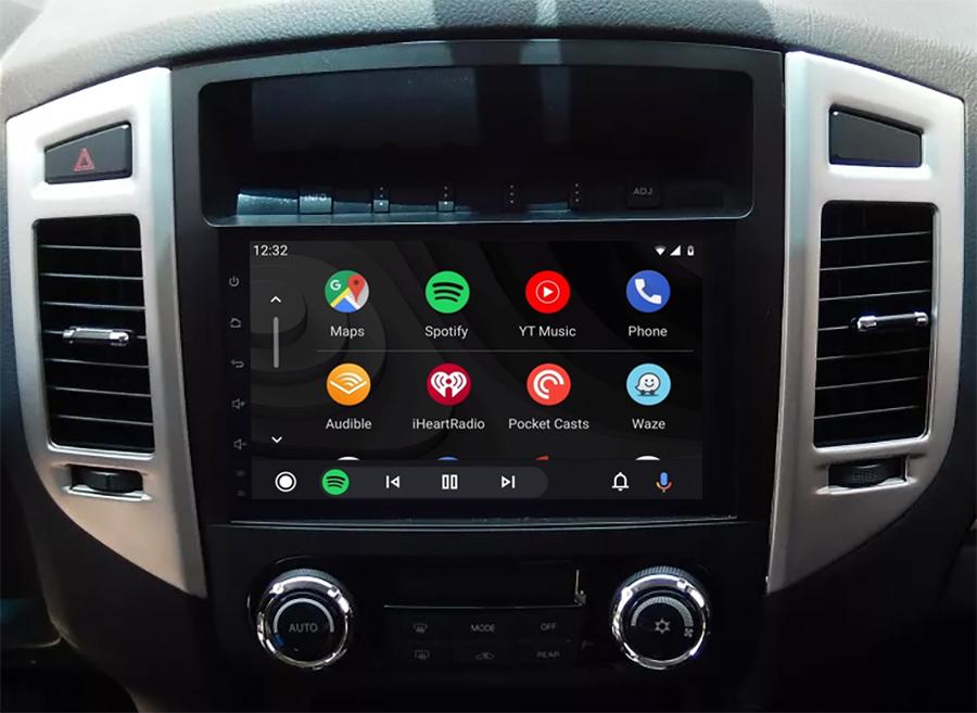 Ecran tactile QLED Android 11.0 + Apple Carplay sans fil Mitsubishi Pajero de 2006 à 2014