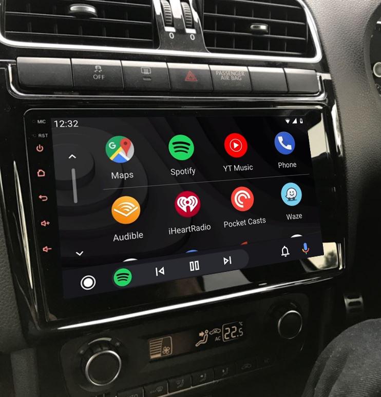 Ecran tactile QLED Android 11.0 + Apple Carplay sans fil Volkswagen Polo de 2012 à 2017