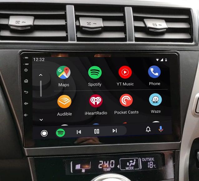 écran tactile QLED Android 11.0 et Apple Carplay sans fil Toyota Prius de 06/2012 à 2015
