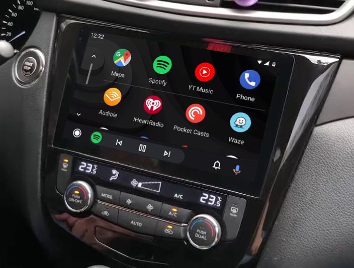 Ecran tactile QLED Android 11.0 + Apple Carplay sans fil Nissan Qashqai et X-Trail de 2014 à 2020