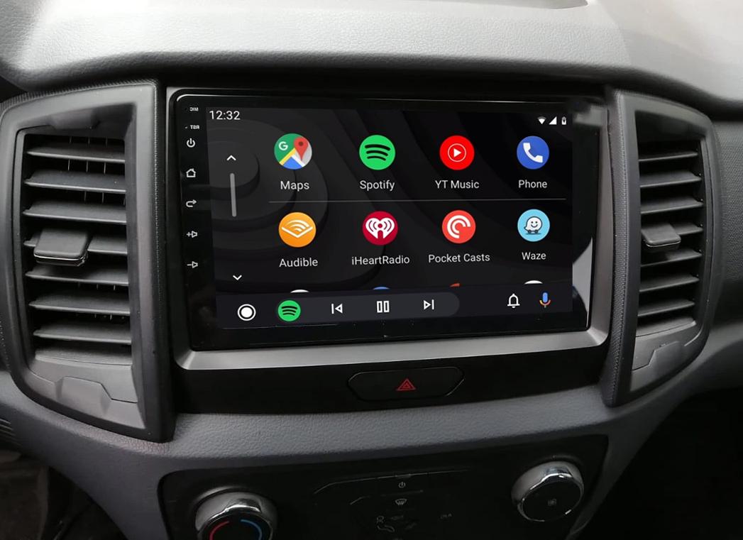 Ecran tactile Android 11.0 + Apple Carplay via USB Ford Ranger depuis 2016