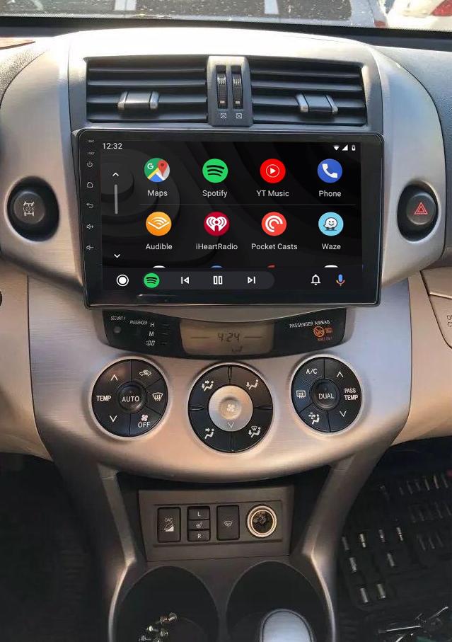 Ecran tactile QLED Android 11.0 + Apple Carplay sans fil Toyota RAV4 de 2006 à 2012