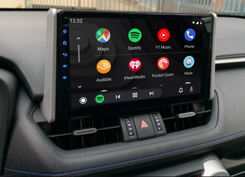 Ecran tactile QLED Android 11.0 + Apple Carplay sans fil Toyota RAV4 depuis 2019