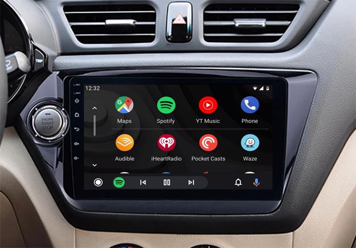 Ecran tactile QLED Android 11.0 + Apple Carplay sans fil Kia Rio de 2012 à 2015