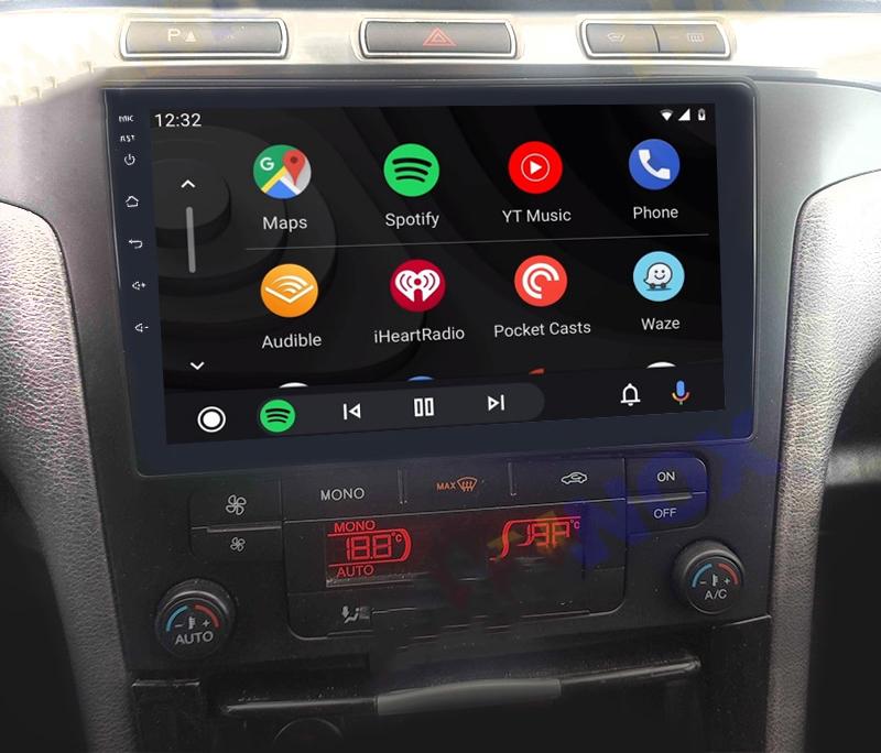 Ecran tactile QLED Android 11.0 + Apple Carplay sans fil Ford S-Max de 2006 à 2015