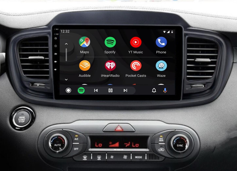 Ecran tactile QLED Android 11.0 + Apple Carplay sans fil Kia Sorento de 2015 à 2018