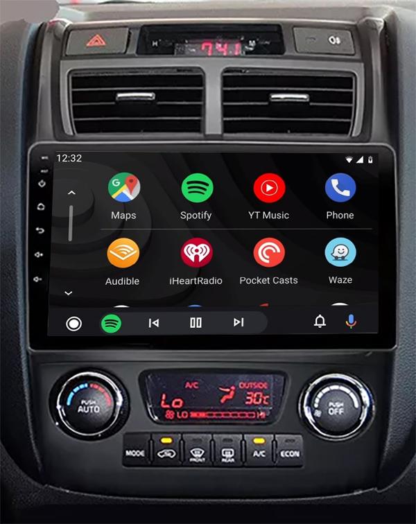 Ecran tactile QLED Android 11.0 + Apple Carplay sans fil Kia Sportage de 2005 à 2010