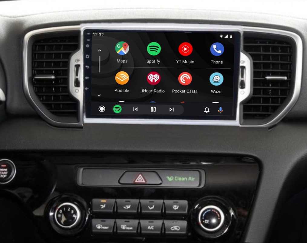 Ecran tactile QLED Android 11.0 + Apple Carplay sans fil Kia Sportage depuis 2016