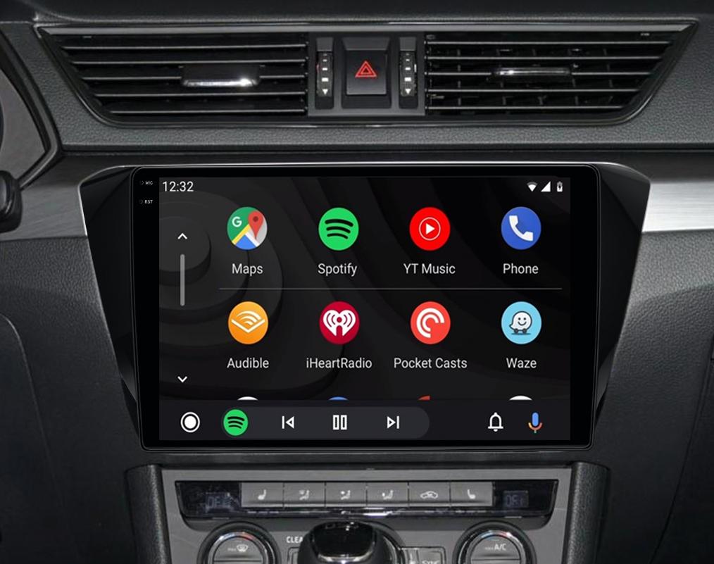 Ecran tactile QLED Android 11.0 + Apple Carplay sans fil Skoda Superb de 2015 à 2019