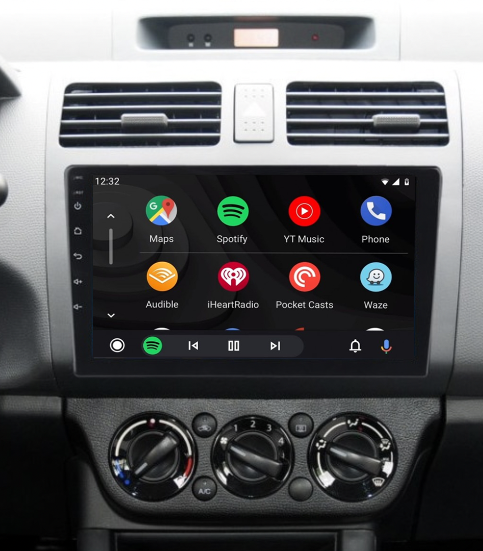 Ecran tactile QLED Android 11.0 + Apple Carplay sans fil Suzuki Swift de 02/2005 à 08/2010