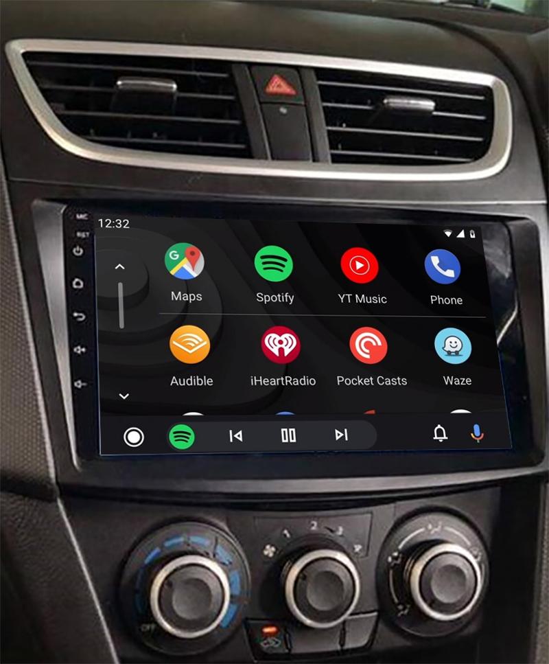 Ecran tactile QLED Android 11.0 + Apple Carplay sans fil Suzuki Swift de 09/2010 à 2017