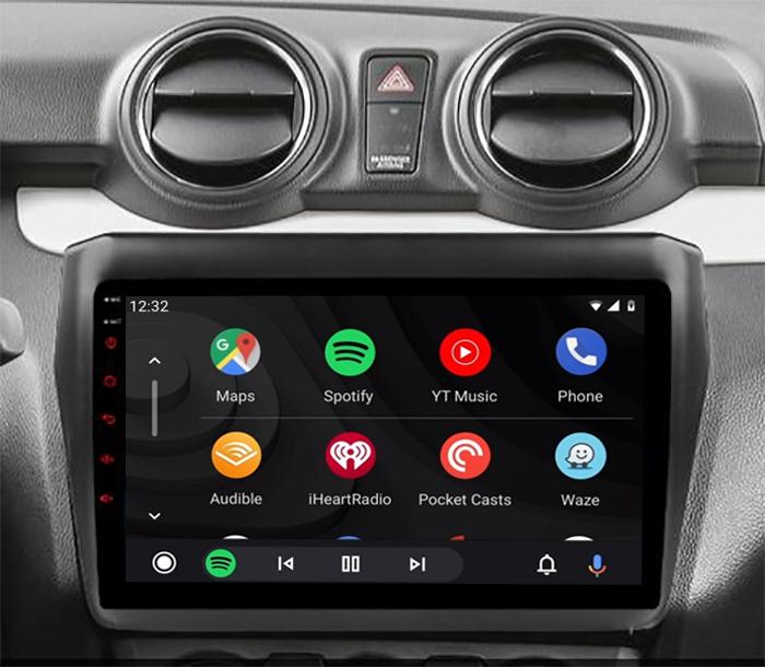 Ecran tactile QLED Android 11.0 + Apple Carplay sans fil Suzuki Swift depuis 2017