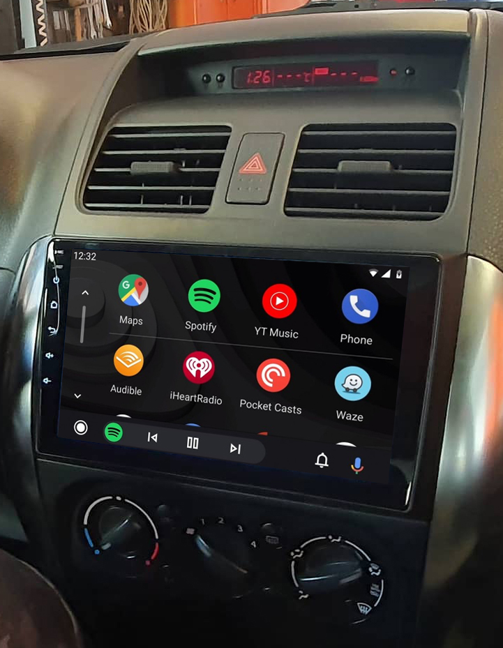 Ecran tactile QLED Android 11.0 + Apple Carplay sans fil Suzuki SX4 de 2006 à 2013