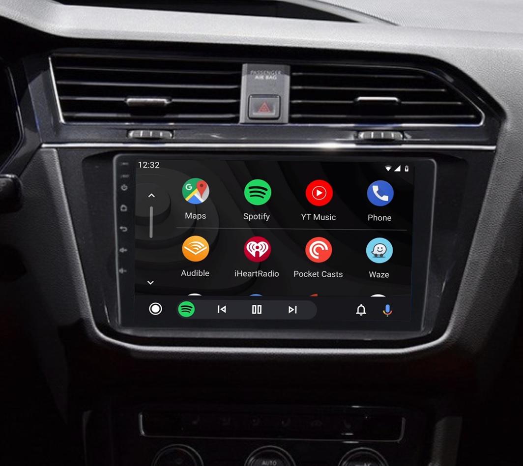Ecran tactile QLED Android 11.0 + Apple Carplay sans fil Volkswagen Tiguan depuis 2017