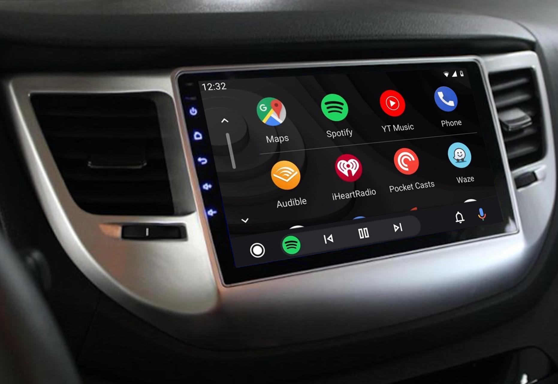 Ecran tactile QLED Android 11.0 + Apple Carplay sans fil Hyundai Tucson de 2015 à 2018