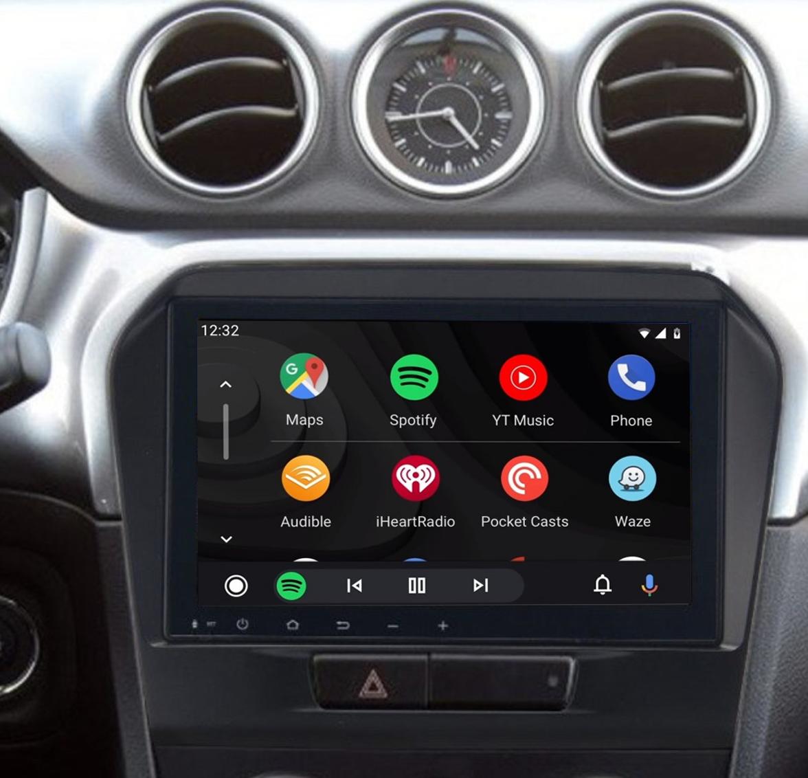 Ecran tactile QLED Android 11.0 + Apple Carplay sans fil Suzuki Vitara de 04/2015 à 2020