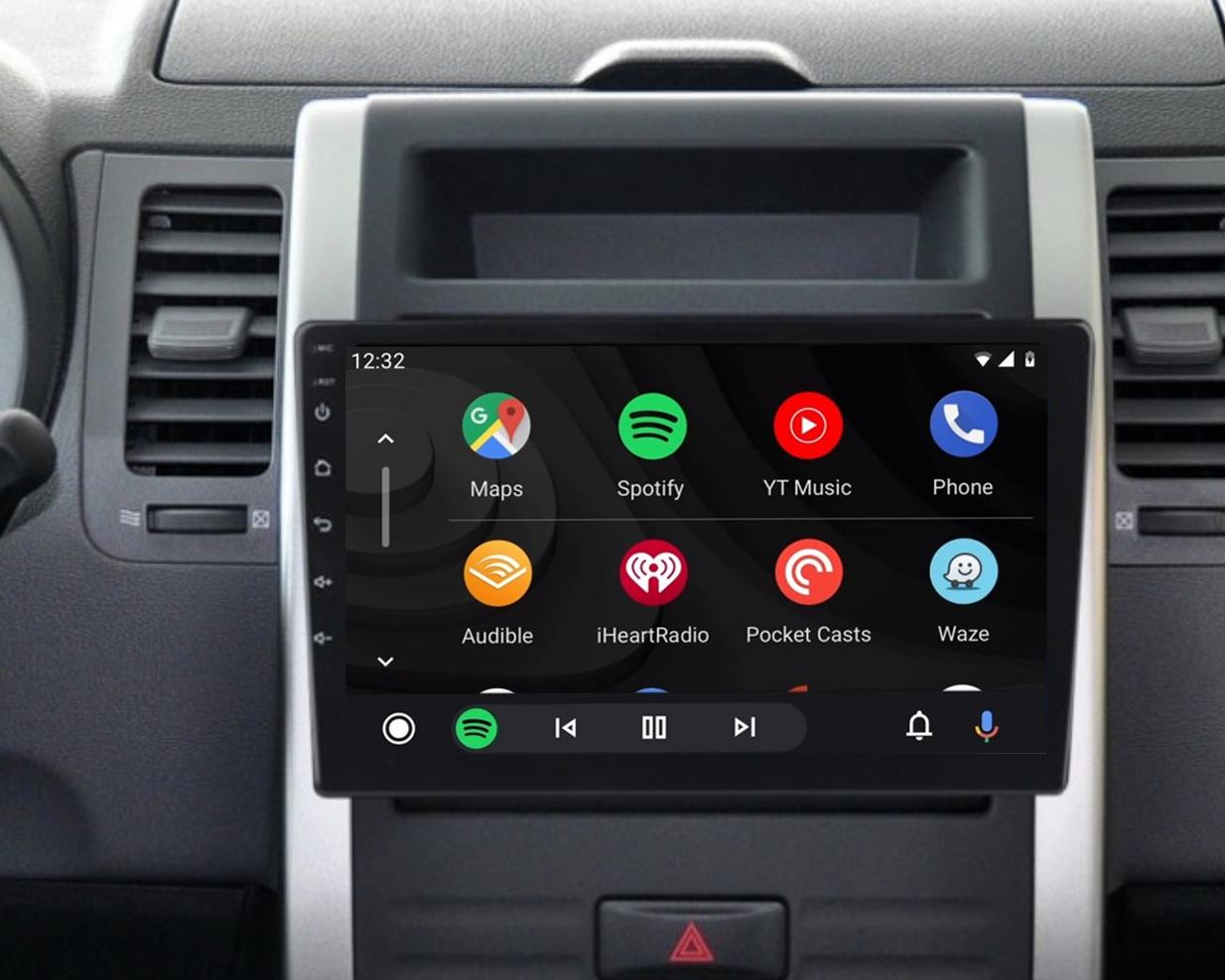 Ecran tactile QLED Android 11.0 + Apple Carplay sans fil Nissan X-Trail de 2007 à 2013