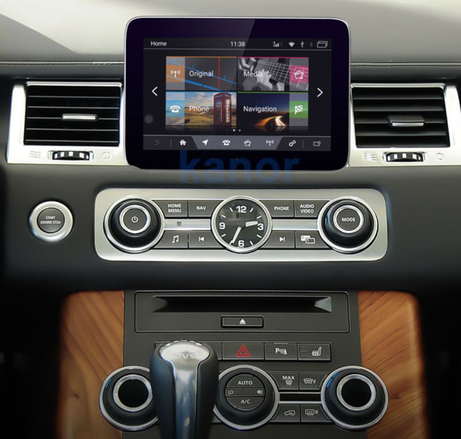 écran tactile QLED Android 10.0 et Apple Carplay sans fil Land Rover Discovery 4 de 2013 à 2017