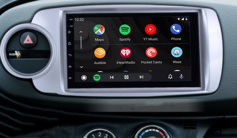écran tactile QLED Android 11.0 et Apple Carplay sans fil Toyota Yaris de 10/2011 à 07/2014