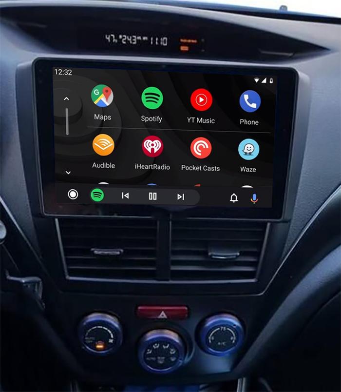 écran tactile QLED Android 11.0 et Apple Carplay sans fil Subaru Forester de 2008 à 2012