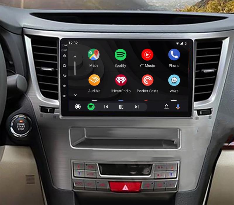 écran tactile QLED Android 11.0 et Apple Carplay sans fil Subaru Outback de 2009 à 2014