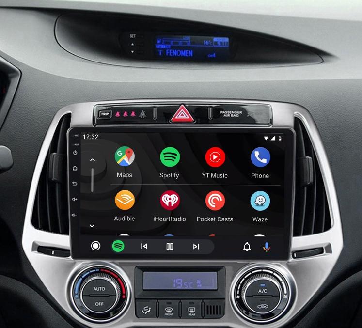 écran tactile QLED Android 11.0 et Apple Carplay sans fil Hyundai i20 de 2012 à 2014