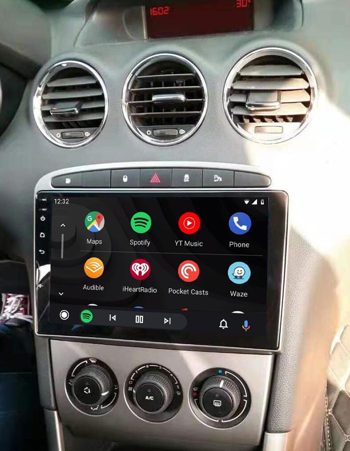 écran tactile QLED Android 11.0 et Apple Carplay sans fil Peugeot 308 et Peugeot RCZ