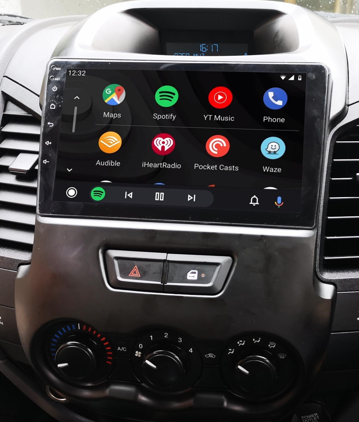 écran tactile QLED Android et Apple Carplay sans fil Ford Ranger de 2012 à 2015