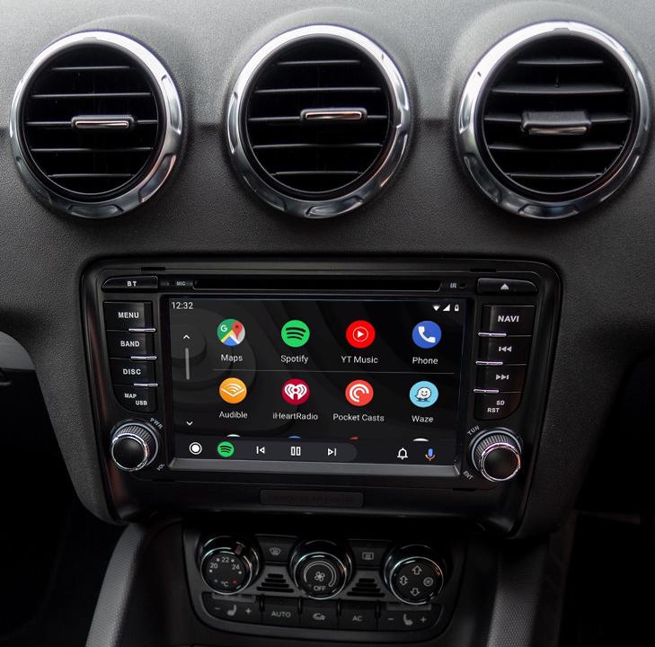 écran tactile QLED Android et Apple Carplay sans fil Audi TT de 2006 à 2014