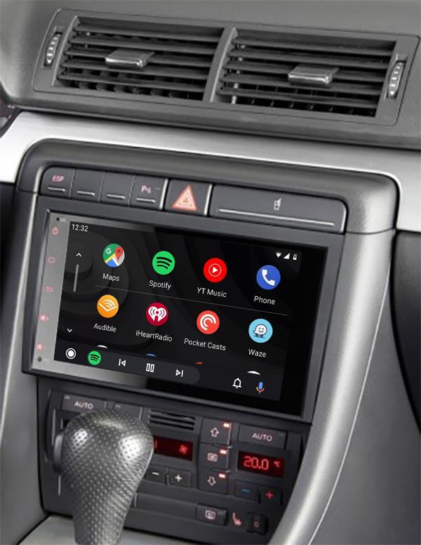 écran tactile QLED Android et Apple Carplay sans fil Audi A4 de 2001 à 2007