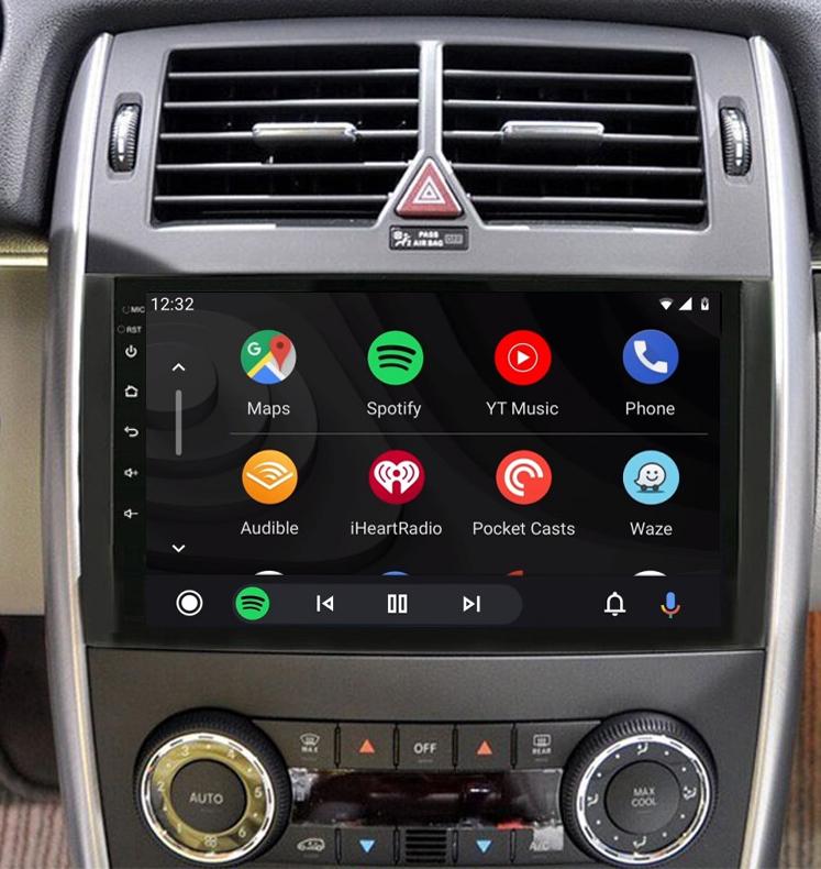 écran tactile QLED Android et Apple Carplay sans fil Mercedes Vito, Viano, Mercedes Classe A et Classe B
