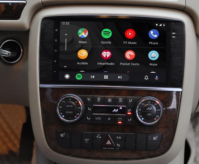 écran tactile QLED Android et Apple Carplay sans fil Mercedes Classe R de 2006 à 2012