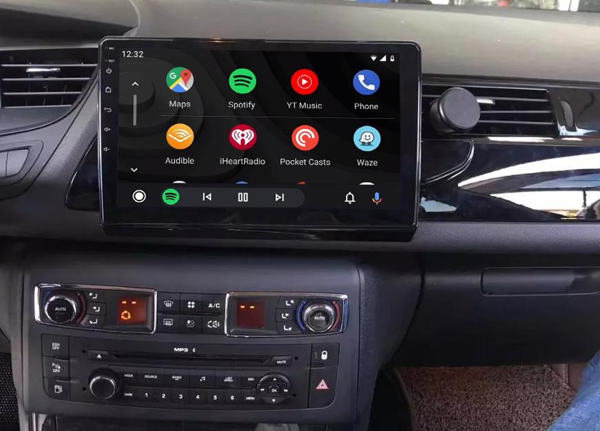 écran tactile QLED Android et Apple Carplay sans fil Citroën C5 de 2008 à 2017