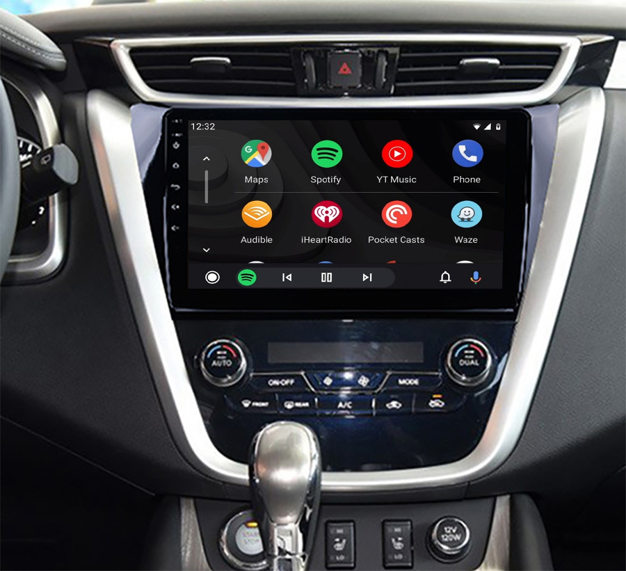 Ecran tactile QLED Android 11.0 Apple Carplay sans fil Nissan Murano depuis 2015