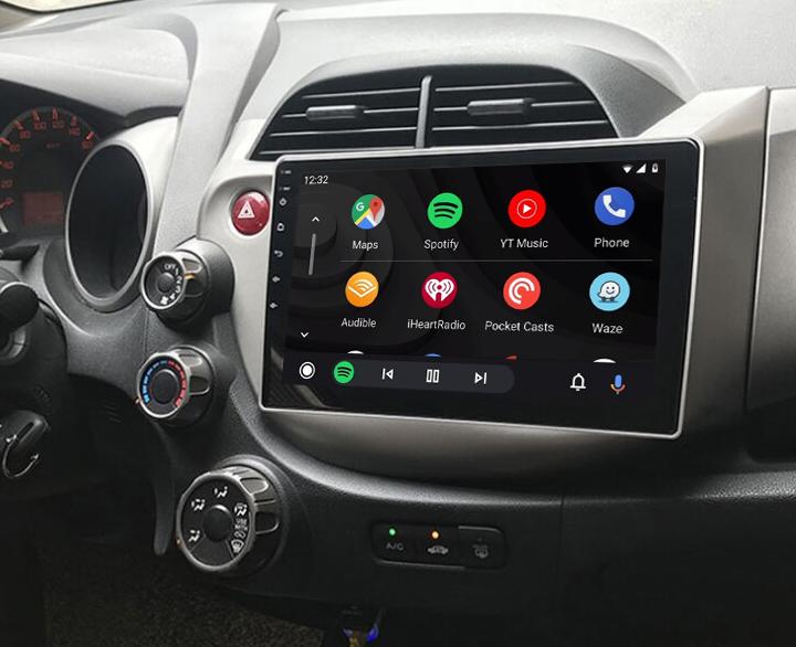 Ecran tactile QLED Android 11.0 Apple Carplay sans fil Honda Jazz de 2009 à 2013