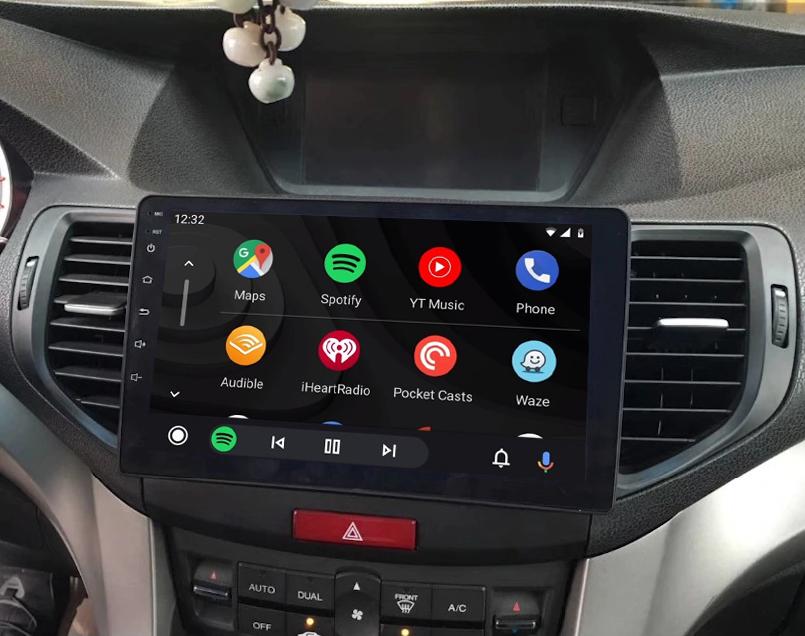 Ecran tactile QLED Android 11.0 Apple Carplay sans fil Honda Accord de 2008 à 2012