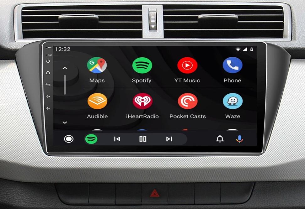 écran tactile QLED Android et Apple Carplay sans fil Skoda Fabia de 2015 à 2019