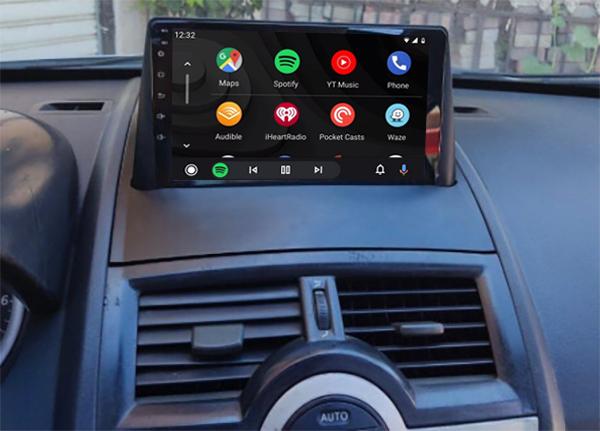 écran tactile QLED Android et Apple Carplay sans fil Renault Megane 2 de 11/2002 à 10/2008